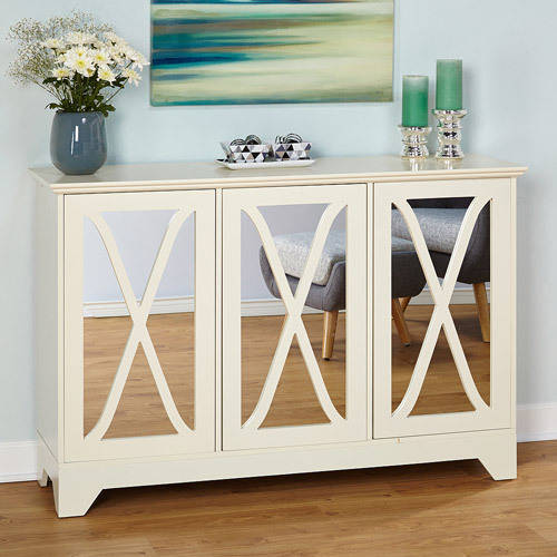 Reflections Buffet/Console with Mirror, Antique White