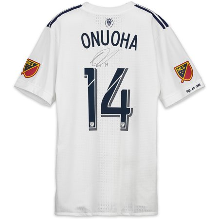pretty nice 50241 2c565 Nedum Onuoha Real Salt Lake Autographed Match-Used White #14 Jersey vs.  LAFC on November 1, 2018 - Fanatics Authentic Certified