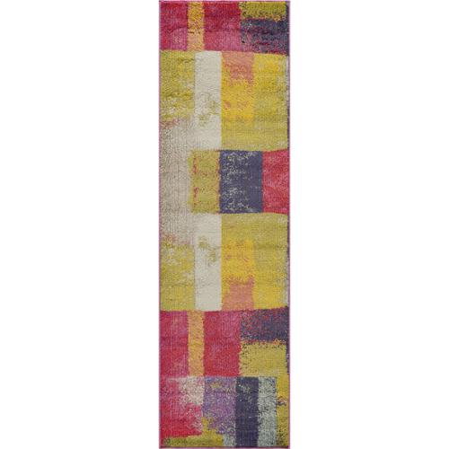 "Momeni Abode Multi Power-Loomed Cube Rug (2'3"" x 7'6"") by Overstock"