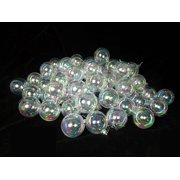 "32ct Clear Iridescent Shatterproof Christmas Ball Ornaments 3.25"" (80mm)"