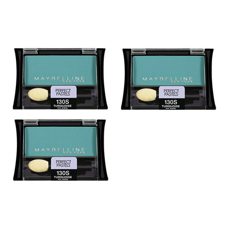 Pastel Shadow - Maybelline New York Expert Wear Eyeshadow, 130s Turquoise Glass Perfect Pastels, 0.09 Oz (3 Pack)