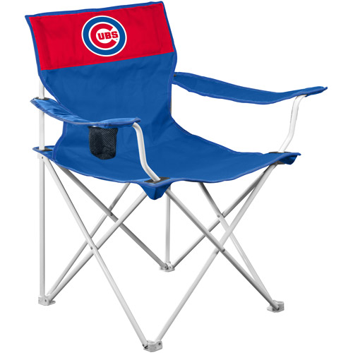 Logo Chairs Chicago Cubs Canvas Tailgate Folding Chair W/Carrying Case