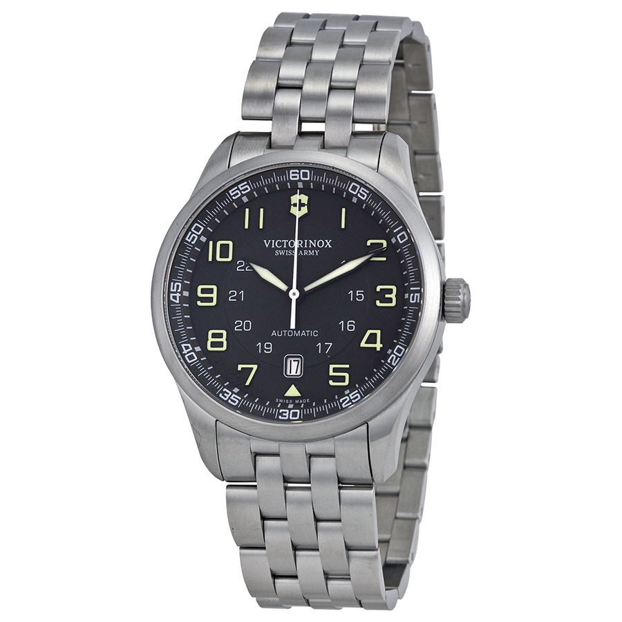 Victorinox Swiss Army Men's Airboss 241508 Grey Stainless-Steel Swiss Automatic Watch