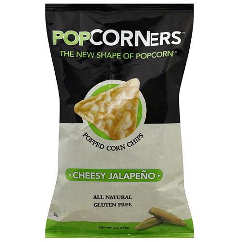 Popcorners Cheesy Jalapeno Popped Corn Chips, 5 oz (Pack of 12)