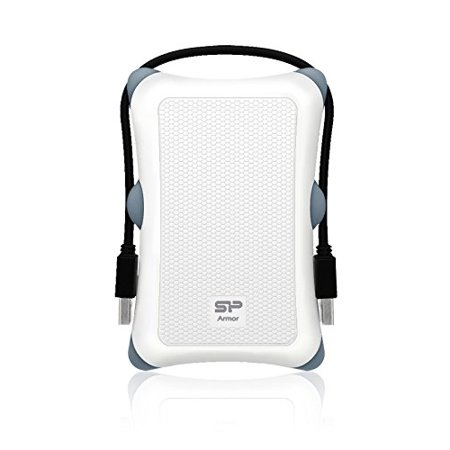 Silicon Power Armor A30 2.5 SATA Hard Drive Shockproof Enclosure Color White Model SP000HSPHDA30S3W