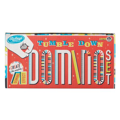 Ridley's House Of Novelties Tumble Down Domino Rally Game Set