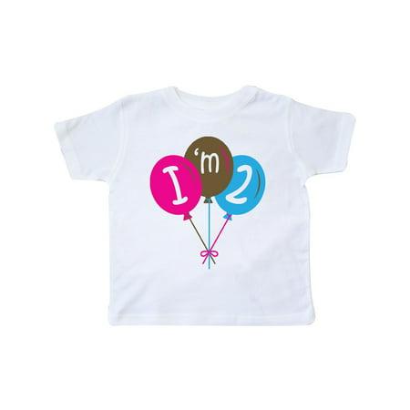 Pink Balloons Im 2 2nd Birthday Toddler T Shirt