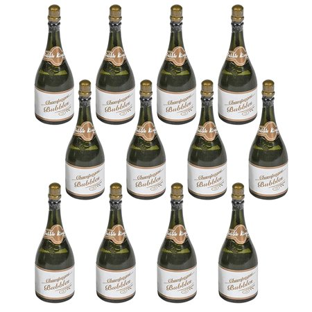 Gift Solutions Packs (Champagne Bottle Bubbles – 3 inches Mini Champagne Bubble with Blowers (Pack of 12) Solution Included – Great Gift Ideas and Party Favors For)