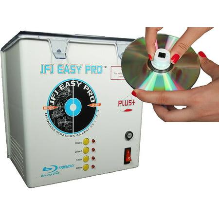 JFJ Easy Pro™ CD/DVD Repair Machine with Push Nut Assembly 110 (Best Cd Repair Machine)