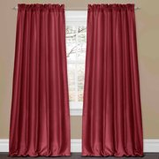 Lucia Red Window Curtains, Pair