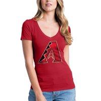 Arizona Diamondbacks New Era Women's V-Neck T-Shirt - Red