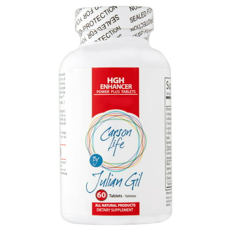 Carson Life by Julian Gil HGH Enhancer Power Plus Tablets, 60 count