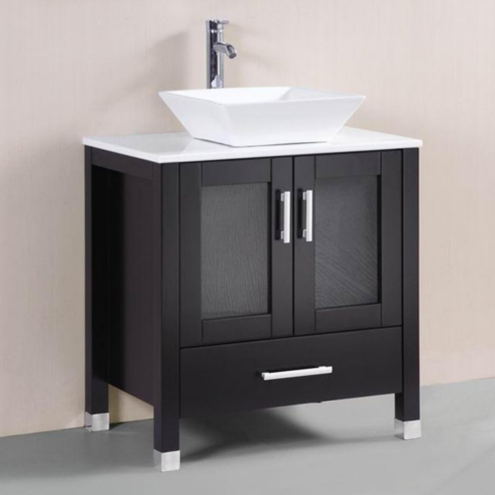 Belvedere 30 in. Modern Single Vessel Bathroom Vanity - Walmart.com