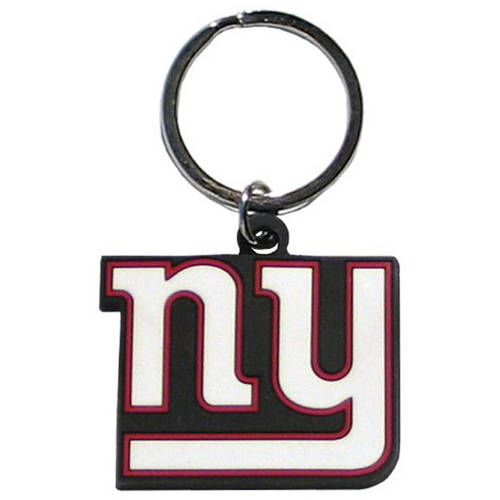 NFL New York Giants Flex Laser Cut Rubber Keychain