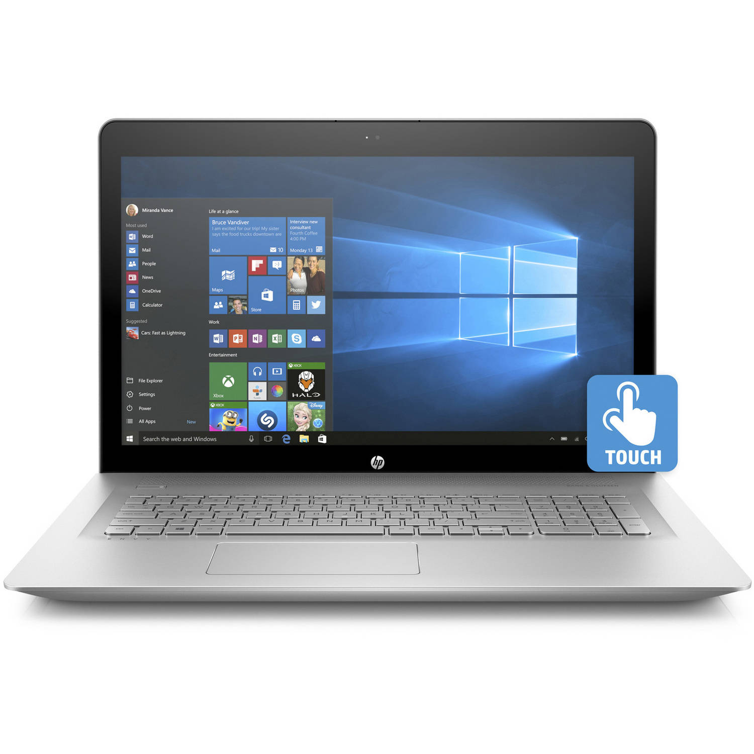 "HP Envy 17-U110Nr 17.3"" Laptop, Touchscreen, Windows 10 Home, Intel Core i7-7500U Dual-Core Processor, 12GB RAM, 1TB Hard Drive"