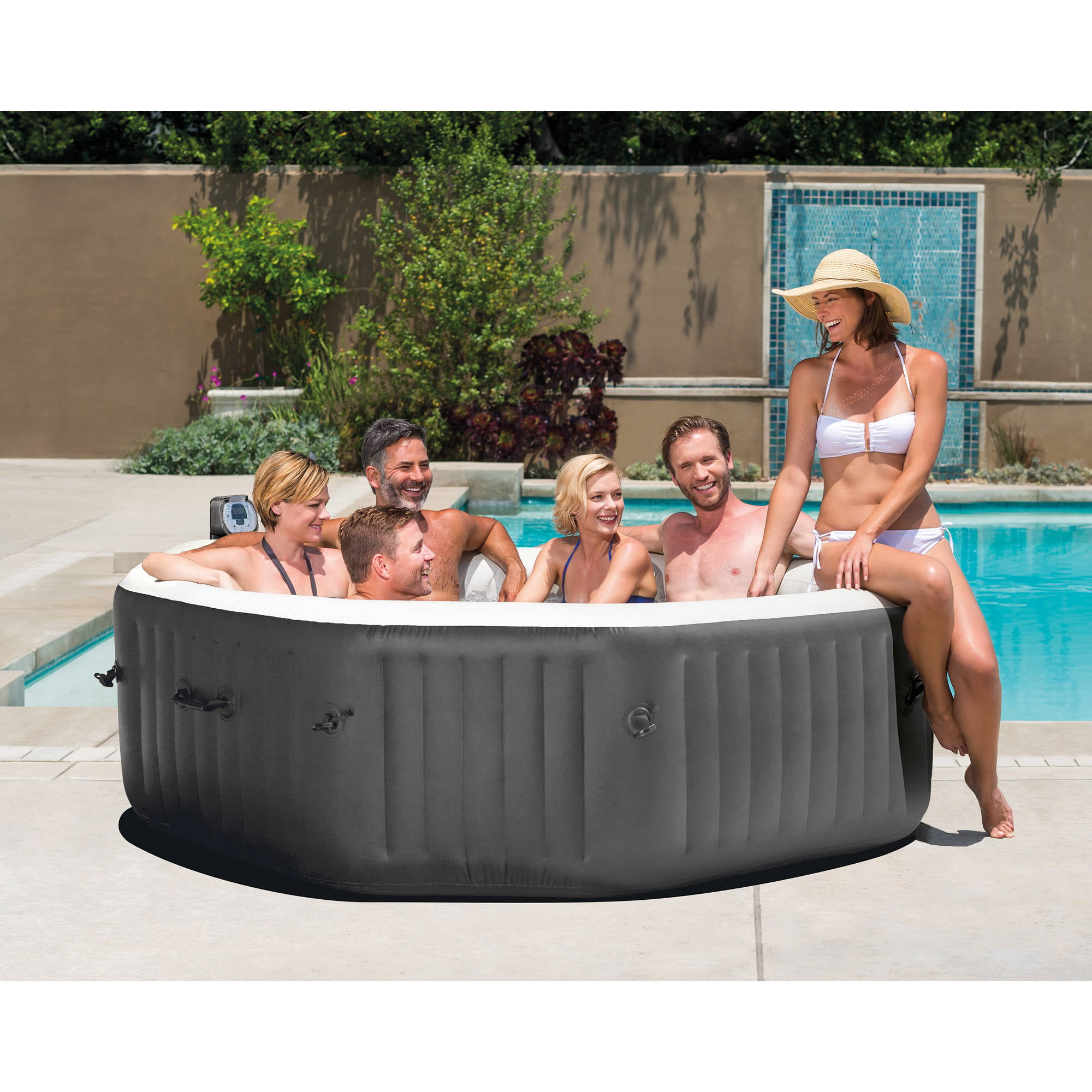 person inflatable hot outdoor portable tub ip black com walmart spa saluspa coleman