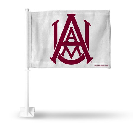 Alabama A&M Bulldogs NCAA 11X14 Window Mount 2-Sided Car - Mississippi State Bulldogs Car Flag