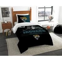 """NFL Jacksonville Jaguars """"Draft"""" Bedding Comforter Set"""