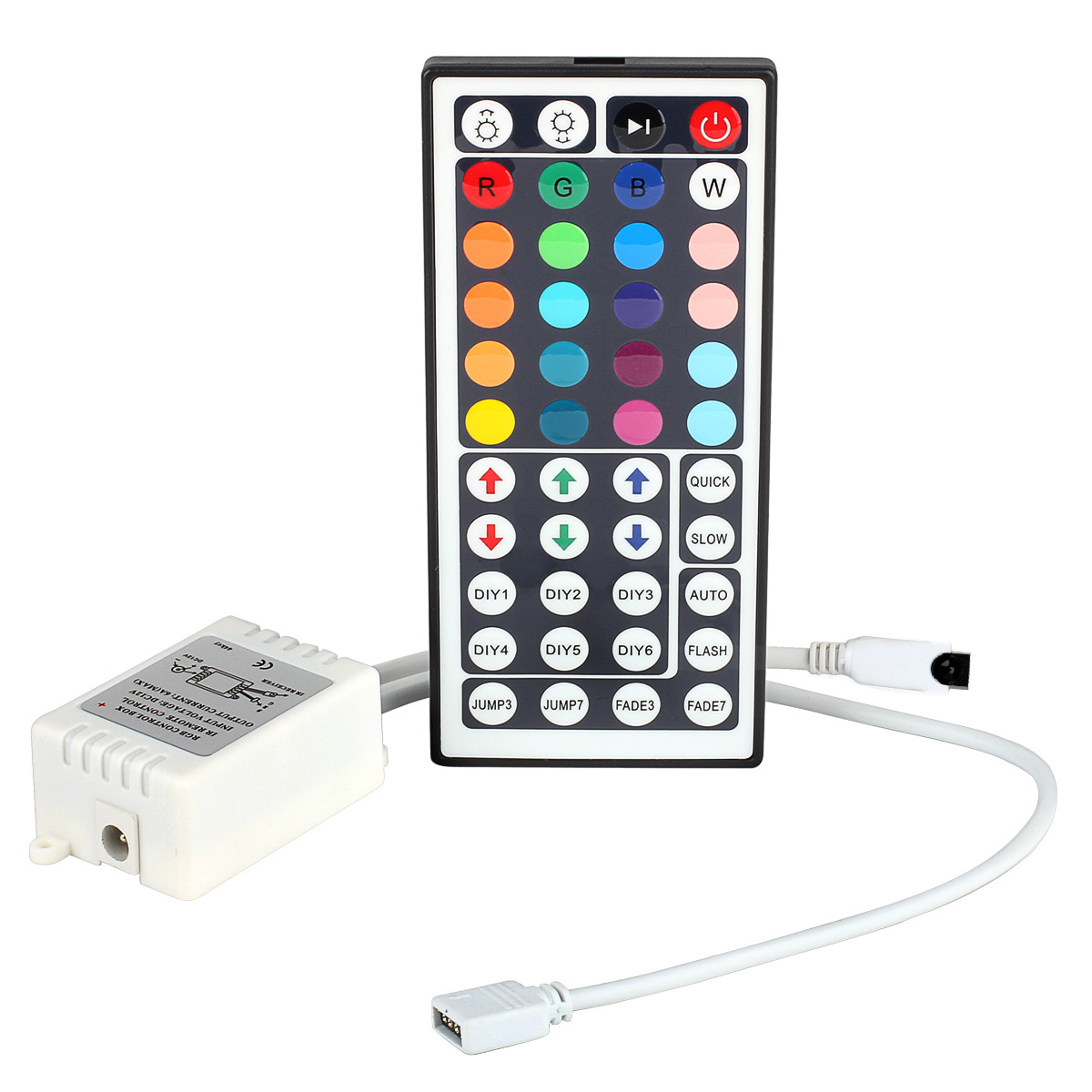 SUPERNIGHT IR Remote Controller 44 Keys for 5050 SMD RGB LED Light Strip