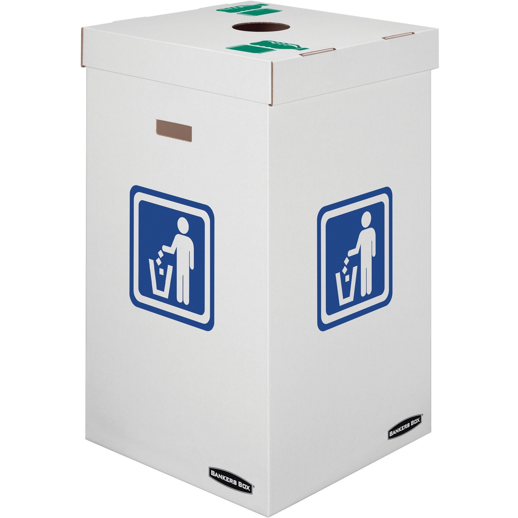 Bankers Box Waste and Recycling Bins - 42 gallon, 10/carton