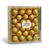 Ferrero Rocher Fine Hazelnut Milk Chocolate Candy, 24 Count, Diamond Gift Box, 10.5 oz
