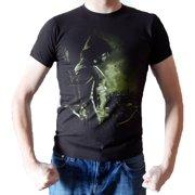 Green Arrow Profile Mens Black T-shirt