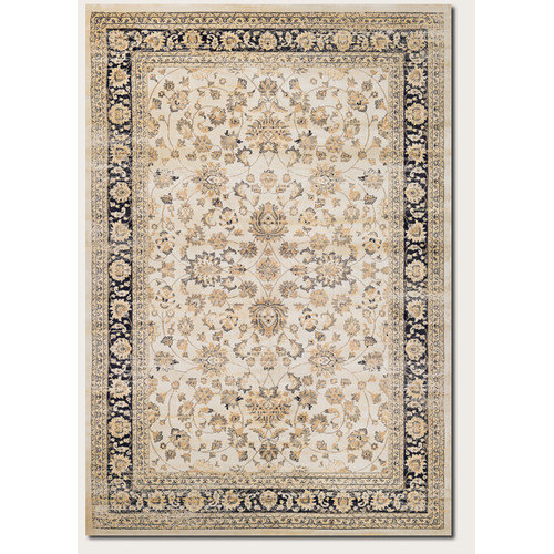 Couristan Zahara Farahan Amulet Oatmeal/Black Indoor/Outdoor Area Rug