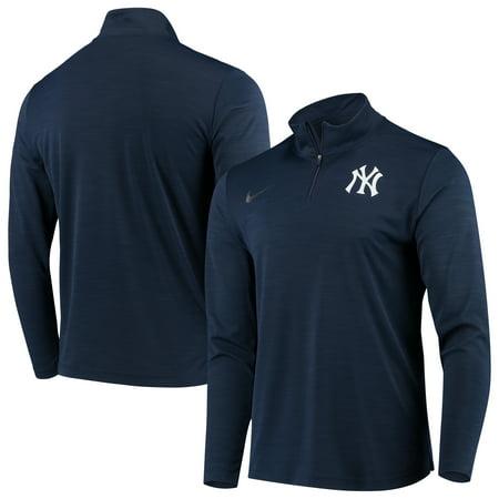 New York Yankees Nike Intensity Performance Quarter-Zip Pullover Jacket - Navy Nike Hockey Jacket