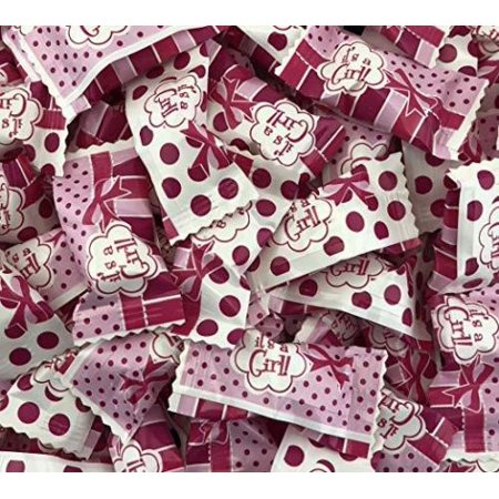 Party Sweets, It's A Girl, Buttermints Candy, 3 pounds bag - Pink Buttermints