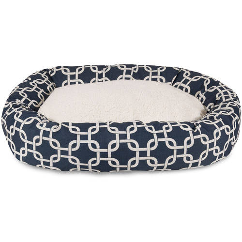 "Majestic Pet 40"" Links Sherpa Bagel Bed Removable Cover"