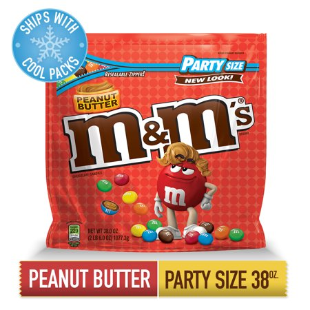 M&M'S Peanut Butter Chocolate Candy | Party Size, 38 Oz. - Peanut Butter Chocolate Halloween Cookies