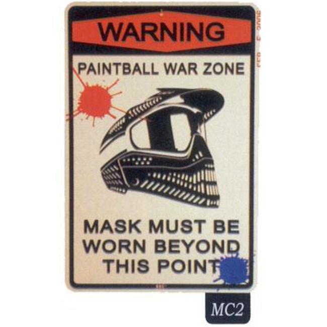 Seaweed Surf Co MC2 12X18 Aluminum Sign Paintball War Zone