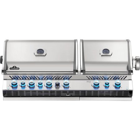 Napoleon Prestige Pro 825 Built-in Propane Gas Grill With Infrared Rear Burner And Infrared Sear