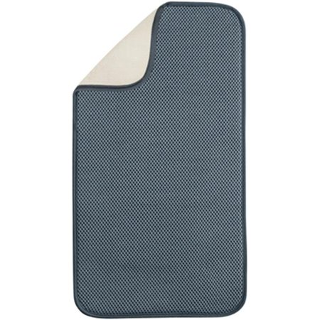 Interdesign 40032 Pewter-Ivory Dry Mat, 18 x 9 in. - image 1 of 1