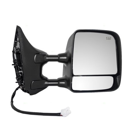 Passengers Tow Power Side Mirror Heated with Telescopic Dual Arms Replacement for Nissan Titan Pickup Truck 96301ZR00E 97 Nissan Pickup Door Mirror