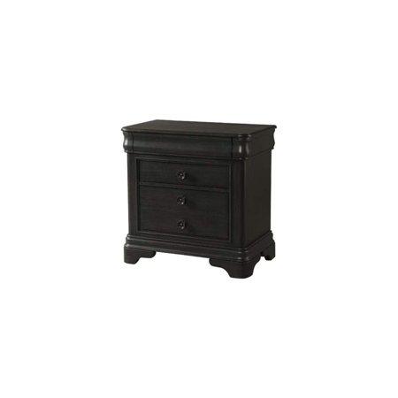 LYKE Home  Charcoal Finish 3-drawer Nightstand