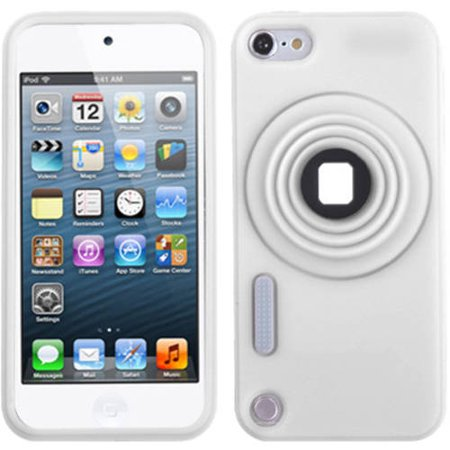 Apple iPod touch 5 MyBat Camera-Style Stand Pastel Skin Case with Lanyard, White