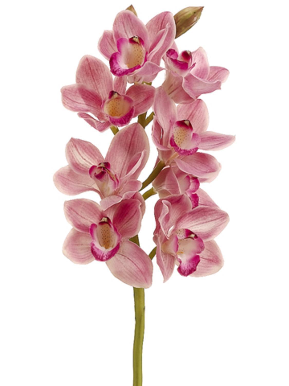 Pack of 6 Artificial Rubrum Pink Cymbidium Orchid Silk Flower Sprays ...