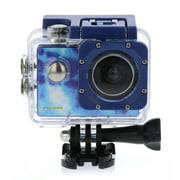 """PlayZoom GoCam - Waterproof Kids Action Camera - Underwater Sports Camera with 2"""" Inch LCD Screen, 1080P HD Video, Built-in Mic and Speaker, Mounting Kit - for Boys and Girls (Blue Tie-Dye)"""