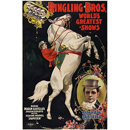 Ringling Bros Vintage Circus Poster Traditional First Rate Hot New 24X36
