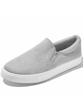 Slip-On Platform Shoes Classic Martin Ankle Handmade Flowers Party Dress Shoes Casual Slip-on Loafers Grey,s,v,9