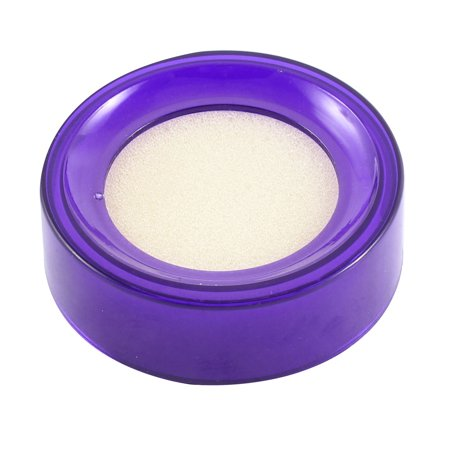 Unique Bargains Plastic Sponge Round Finger Wet Casher Money Case Stationery Bank Office Purple](Finger Monkey Prices)