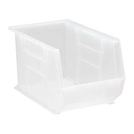 Quantum Storage Systems 60 lb Capacity, Hang and Stack Bin, Clear QUS242CL