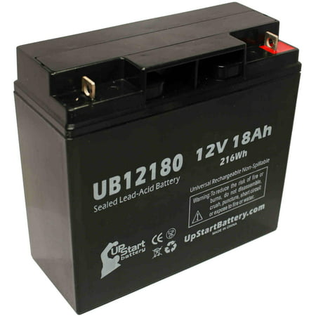 Replacement UpStart UB12180 Battery for APC SMART UPS 1500, SMART-UPS 3000, RBC7, SMART-UPS 1400, SUA1500, RBC43, 1000XL Universal Sealed Lead Acid Battery (12V, 18Ah, T4 Terminal, AGM, SLA) (Smart Ups 3000 Battery)