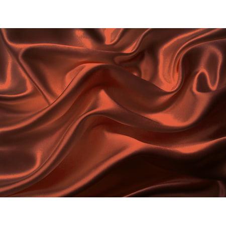 4-Pc 400TC Satin Bed Sheet Pillowcase Set DP Lingerie Silky Charmeuse Rust Orange Brick Spice Copper Queen