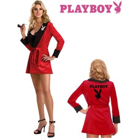 Women's Small 4-6  Playboy Girlfriend Robe Costume (Playboy Couples Costumes)