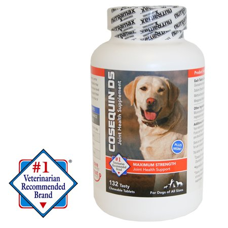 Nutramax Cosequin Maximum Strength (DS) Plus MSM Chewable Tablets Joint Health Supplement for Dogs, 132 Chewable Tablets ()