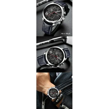 CURREN 8324 Man Quartz Sport Watch Brand Fashion Casual Male Multi-function Waterproof Wristwatch - image 4 of 7