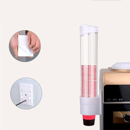 Pull Type Water Cup Dispenser Disposable Paper Cup Dispenser Beverage Cup Dispenser(Natural White)
