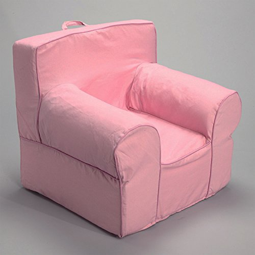 CUB CHAIRS Comfy Oversize Pink Kid's Chair with Machine Washable Removable Cover